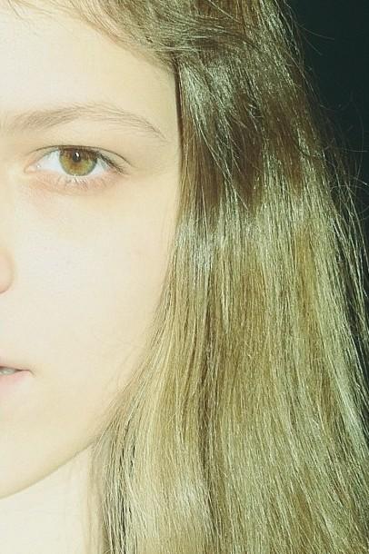 Olhos da cor do cabelo